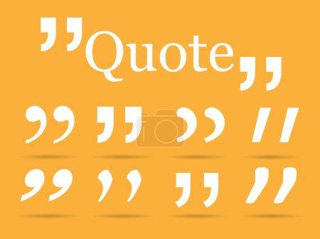White Quotation marks