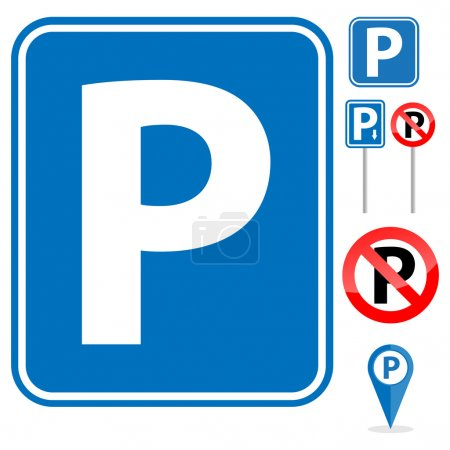 Parking Sign set