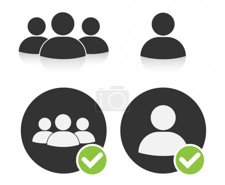 Human Resources Icons on white background...