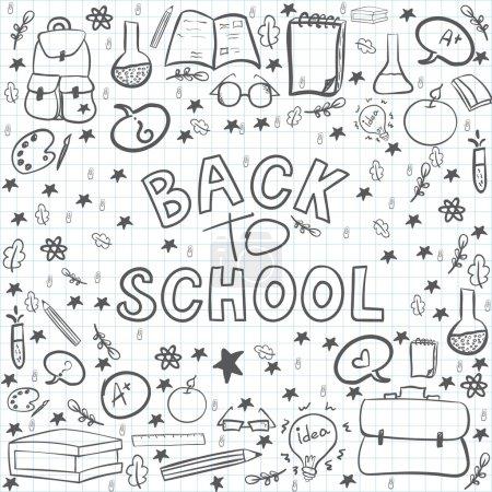 Hand drawn back to school set