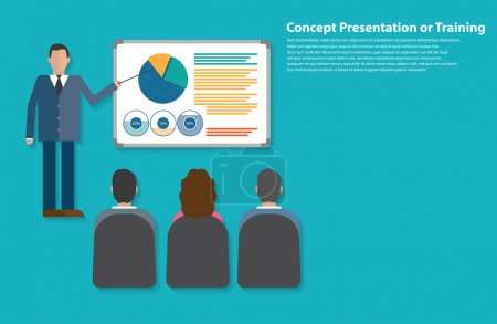 Presentation or training flat style design