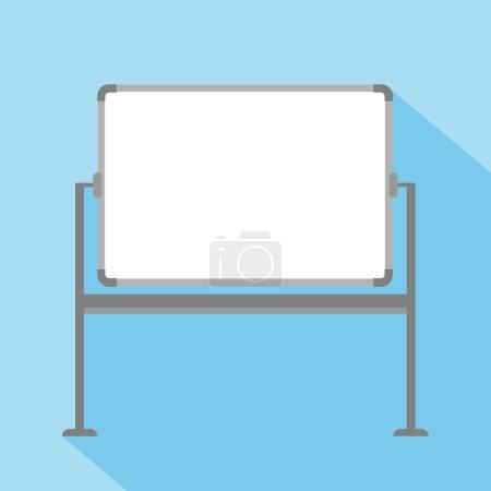Blank whiteboard on blue background