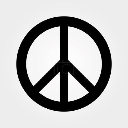 Monochrome peace symbol