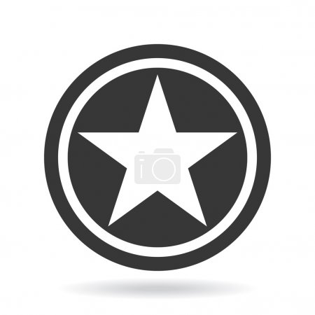 Vector star black and white