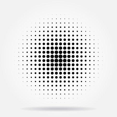 Illustration pour Halftone points fond radial - image libre de droit