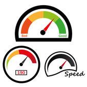 Speedometer abstract symbol of speed