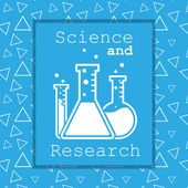 Vector chemistry icon on blue background