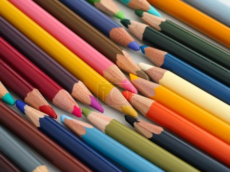 Lot of colored pencils