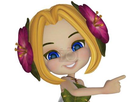 cartoon little fairy