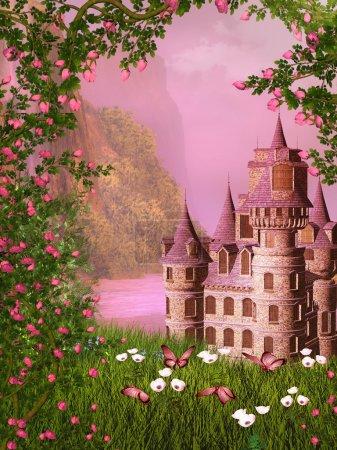Photo pour Illustration de paysage rêveuse - image libre de droit