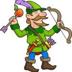 Robin Hood boasts his marksmanship...
