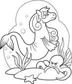 sea horse swim