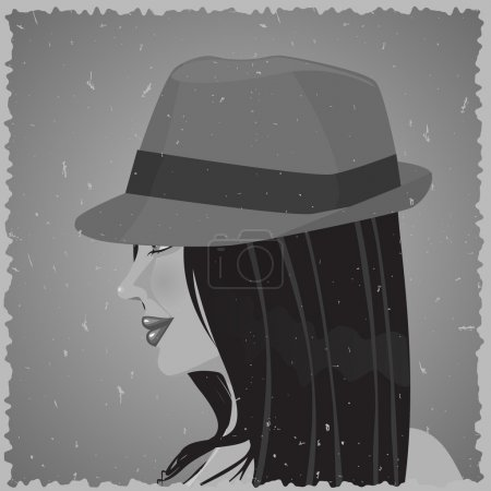 Old photo of woman in a hat