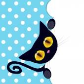 Black kitten peeking out