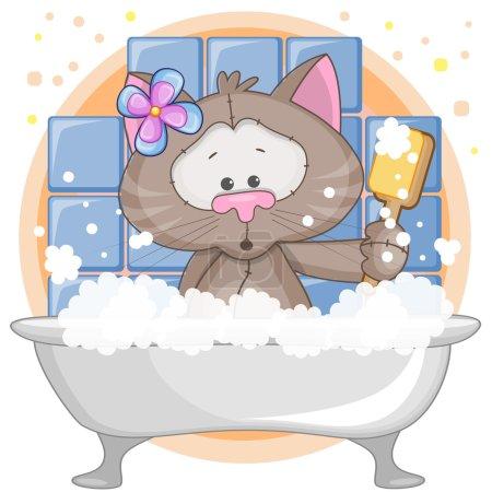 Cute Cat in the bathroom