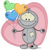 Monster with  balloons card