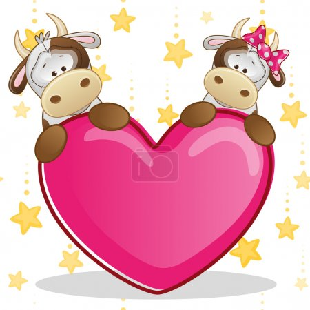 Lovers Cows card