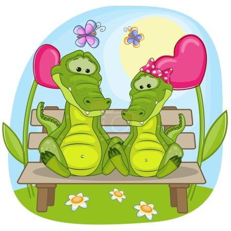 Lovers Crocodiles card