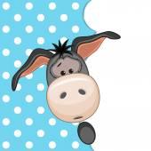 Donkey peeking out