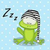 Cute Sleeping Frog