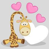 Cute  Giraffe with hearts