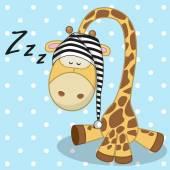 Cute Sleeping Giraffe