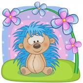 Cute  Hedgehog with flowers