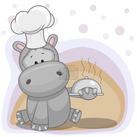 Cute Cook Hippo