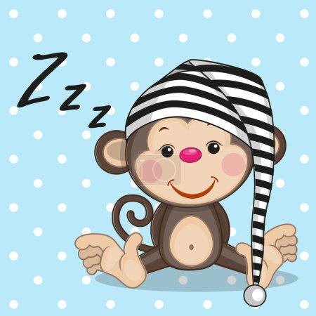 Illustration pour Singe endormi dans un plafond - image libre de droit