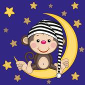 Monkey on the moon