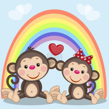 Two Monkeys in love