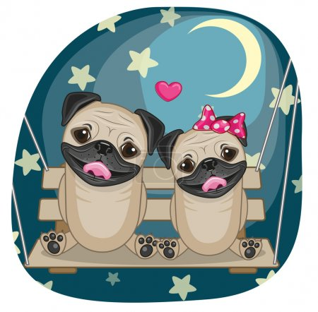 Lovers Pug Dogs