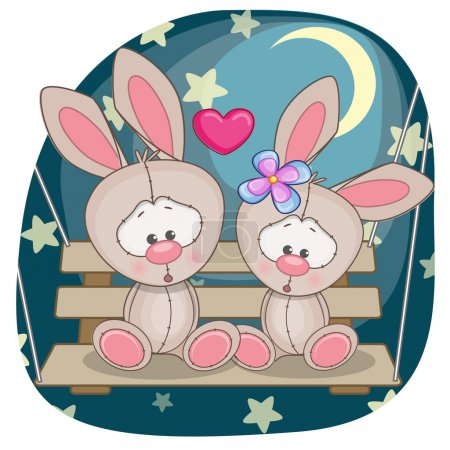 Cute  Lovers Rabbits