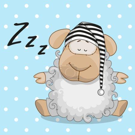 Cute  Sleeping sheep