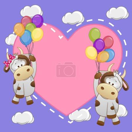 Cute Lovers Cows