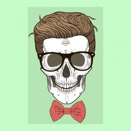Fashion illustration of skull man