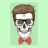 Fashion illustration of skull man