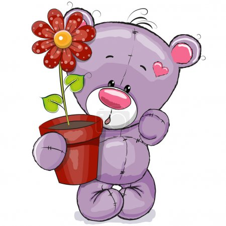 Teddy with flower