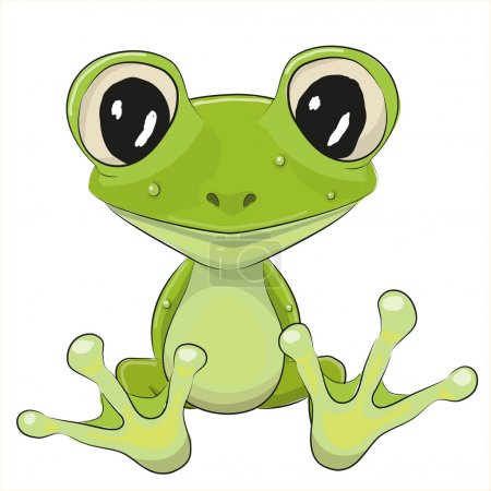 Cute Frog isolated on a white backgroun...