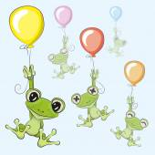 Frogs with balloon