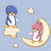 Cute Lovers Penguins