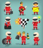 Racing workers and drivers