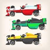 Racing cars at start