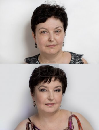 Before after lifting makeup