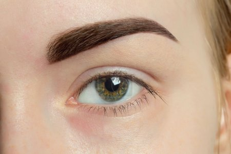Expressive significant eye perfect shape of eyebrow