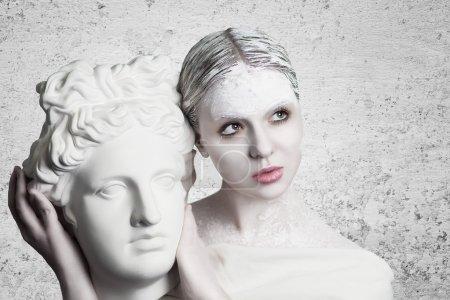 White woman statue