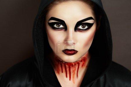Demonic woman bloody