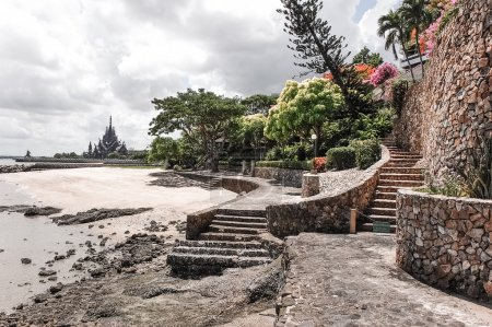 Stone steps leading to the Sanctuary of Truth temple
