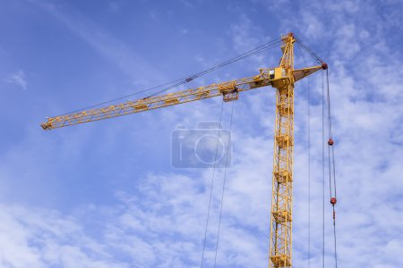 Building of new apartments and tall cranes