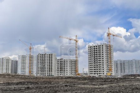 Développement du logement et la grue
